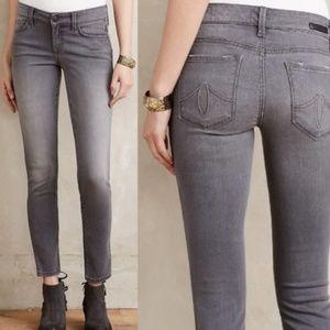 Anthropologie Level 99 Grey Lily Skinny Jeans 26